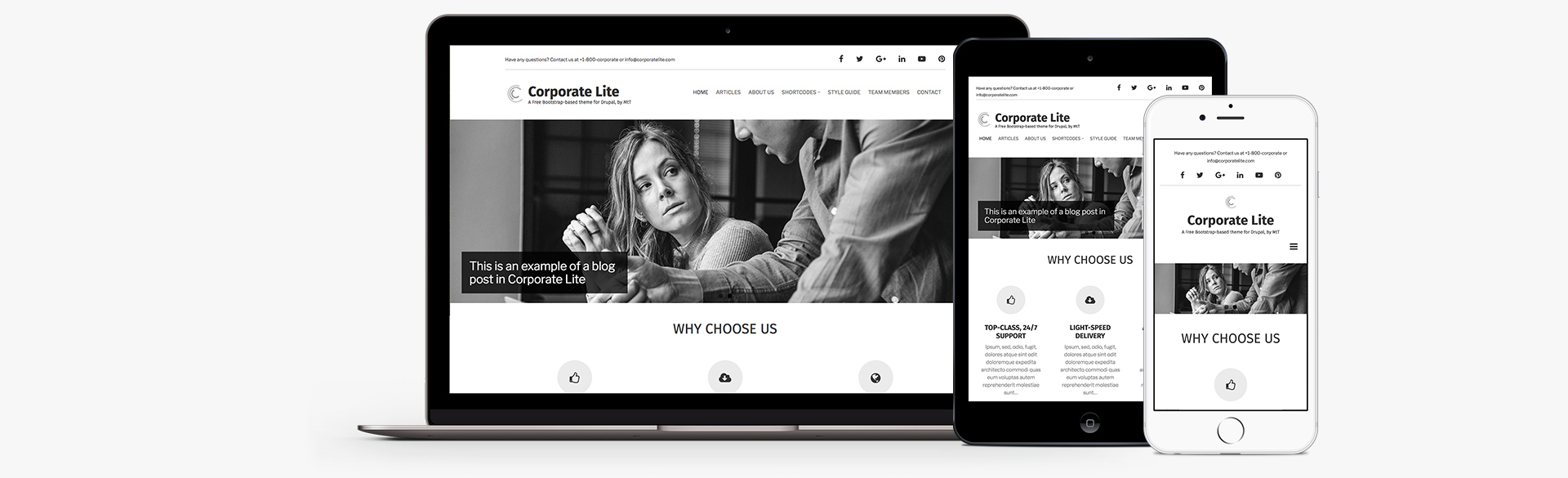 Corporate Lite: A free Drupal 8 theme for businesses