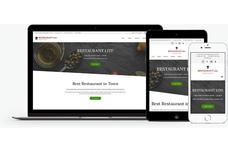 Restaurant Lite: A free mobile-first Drupal 8 theme